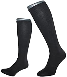 ALBERT KREUZ support socks - compression travel knee-highs - 10,5 mmHg, black 44-46