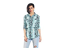 Chique Women's Shirt (bluests_Blue_X-Large)