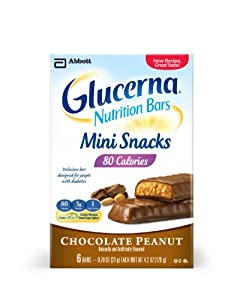Glucerna Nutrition Bars Mini Snacks, Chocolate Peanut