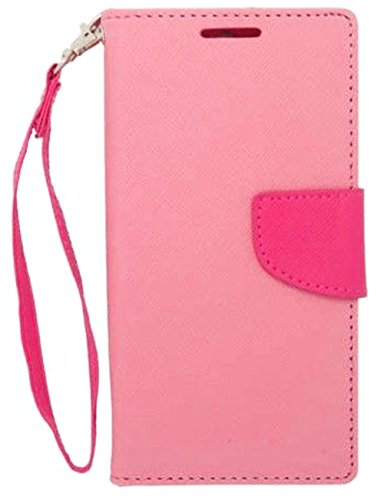 Mylife Light Pink And Ultra Pink {Classic Bookmark Tab Design} Faux Leather (Card, Cash And Id Holder + Magnetic Closing) Slim Wallet For The All-New Htc One M8 Android Smartphone - Aka, 2Nd Gen Htc One (External Textured Synthetic Leather With Magnetic C