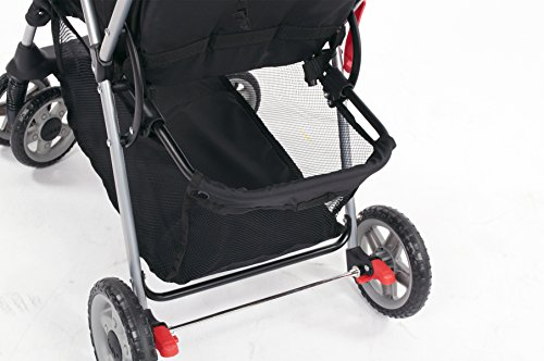 Kolcraft Cloud Plus Lightweight Stroller, Fire Red