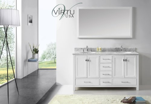 Virtu Usa Gd-50060-Wmro-Wh Transitional 60-Inch Double Sink Bathroom Vanity Set, White front-83210