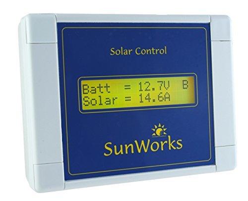 Pannello solare regolatore di carica regolatore per camper e barche. SunWorks SB2C 15A, 240W. intelligente automatico PWM Solar Charge Vorgang. Nero.