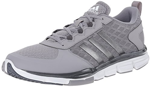 Adidas Performance Men's Speed Trainer 2 Training Shoe, Light Onyx Grey/Carbon Metallic/White, 9 M US
