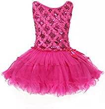 WonderfulDress Lovely Sequin Rosette Girls Tutu Dress