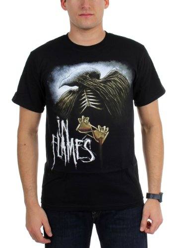 IN FLAMES - Top - Uomo Nero  nero