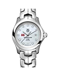 Mississippi State University Women's TAG Heuer Link Watch with Mother of Pearl Diamond Dial