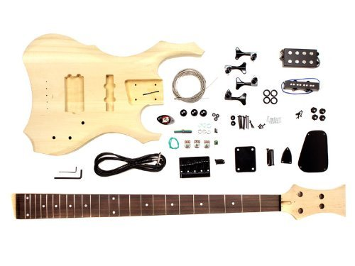 Stellah Unfinished Warlock Bass Guitar DIY Kit Project