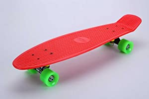 """Tiger Boards Complete 27"""" Long Skateboard (27"""" x 7.5"""") (Red)"""