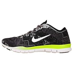 Nike Women's Wmns Free 5.0 TR Fit 4 PRT, BLACK/IVORY-LIGHT ASH-MDM ASH, 6.5 US