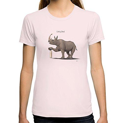 Society6 Women'S Cork It, D Rer Hd T-Shirt Small Light Pink