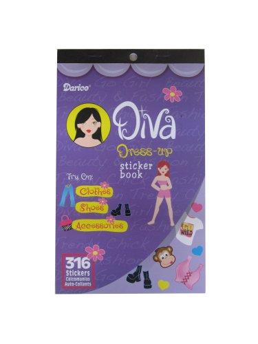 WeGlow International Sticker Book - Diva Dress Up - 316 pieces (4 packs)