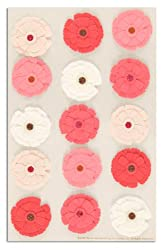 Martha Stewart Crafts Stickers Zinnia Pink/White By The Package