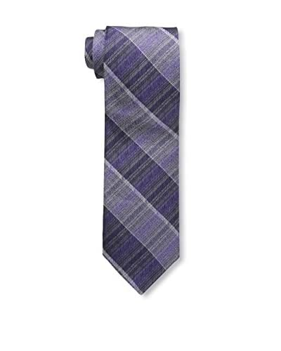 Bruno Piattelli Men's Shaded Plaid Tie, Purple