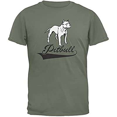 Pit Bull Military Green Adult T-Shirt