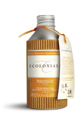 I Coloniali - Crema Bagno Doccia Rigenerante con Mirra - Flacone da 250ml - J&E Atkinsons