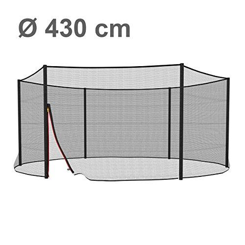 Ampel 24 Trampolin Sicherheitsnetz | Ersatznetz 430 cm für 6 Pfosten | UV-beständig | extrem reißfest | Netz außenliegend