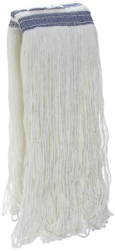 Rubbermaid Commercial FGE43800WH00 Universal Headband Wet Mop Head, Rayon, 24-ounce, White (24oz Rayon Wet Mops compare prices)