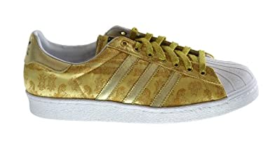 """Adidas Superstar 80's CNY """"Year Of The Horse"""" Men's Fashion Sneakers Metallic Gold/Running White d65867 (9.5 D(M) US)"""