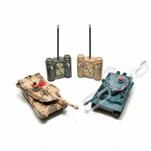 Fighting Tanks - 2 Pack - Infrared w/ Power and Adaptor (Mid Size)