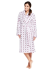 Shawl Collar Ditsy Spotted Dressing Gown