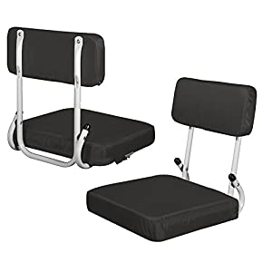 Plain Black Hardback Stadium Seat by Logo Chair