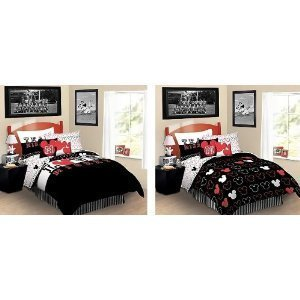 5-Piece Disney Mickey Mouse Reversible Twin Bedding Comforter Sheet Set + Towel