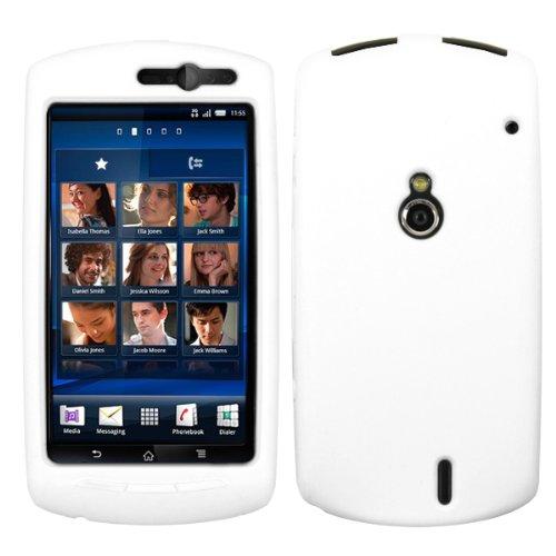 Weiß Silikon Hülle Schutzhülle Tasche Case für Sony Ericsson Xperia Neo / Neo V