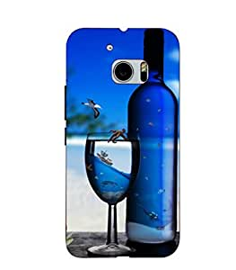 Joe Printed Plastic Back Case for HTC M10 Mobile ( Multicolor)