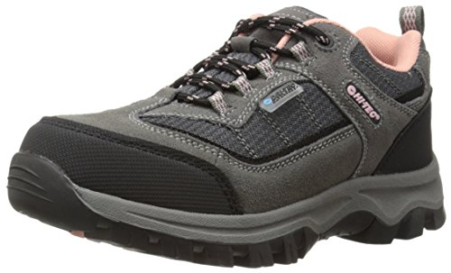 Hi-Tec Hillside Low Waterproof JR Hiking Shoe (Toddler/Little Kid/Big Kid),Charcoal/Blush,4.5 M US Big Kid