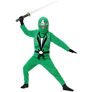 Ninja Avenger II with Armor Childrens Green Costume