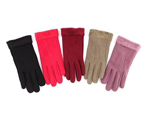 guanti touch screen da donna, guanti Texting per iPhone, Android, guanti touchscreen caldi delle donne per il ciclismo in esecuzione escursionismo Sport all'aria aperta - Grigio