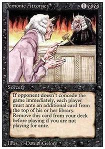 Magic: the Gathering - Demonic Attorney - Avvocato del Diavolo - Revised Edition