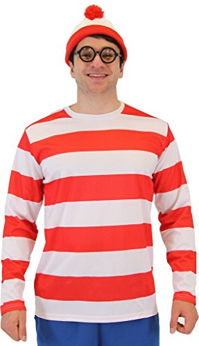 Where's Waldo DELUXE Costume Set (Adult Small)
