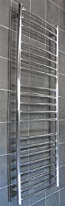 1600x600mm Polished Stainless Steel CURVED Heated Towel Rail       reviews and more information