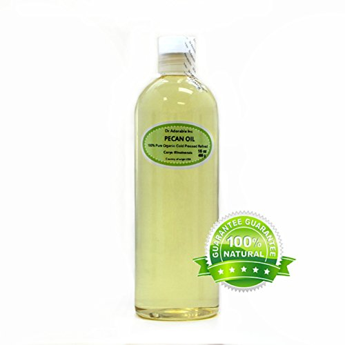 Pecan OIL Organic Pure Cold Pressed 16 Oz / 1 Pint