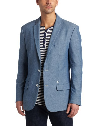 J.C Rags Men's Dry Chambray Blazer