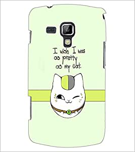 Printdhaba Cat Quote D-1232 Back Case Cover For Samsung Galaxy S Duos 2 S7582