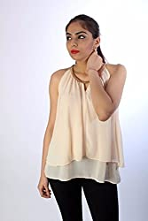 Cream Georgette Chain Top