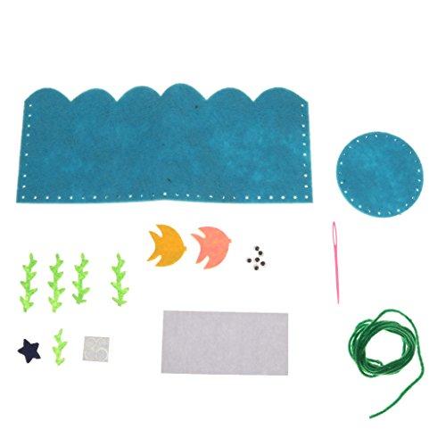 Feutre Porte-stylo Feutre Jouets Enfants Bricolage Artisanat Couture Cadeaux - Rond Bleu