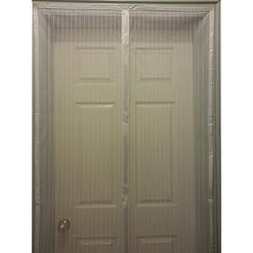 Premium Magnetic Screen Door Instant Bug Mesh White