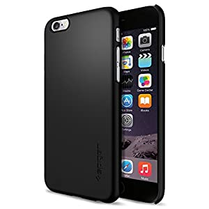 iPhone 6 Case, Spigen® [Non-Slip] [Perfect-Fit] iPhone 6 (4.7) Case Slim **NEW** [Fit Series] [Thin Fit] [Smooth Black] Premium SF Coated Non Slip Surface with Excellent Grip Matte Hard Case - ECO-Friendly Packaging - Slim Case for iPhone 6 (4.7) (2014) - Smooth Black (SGP10936)