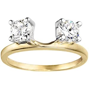 14k Yellow Gold Engagement Ring Wrap (0.14 crt. Diamonds G-H SI2-I1 ).