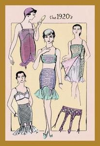 30 x 20 Stretched Canvas Poster Flapper's Girdle