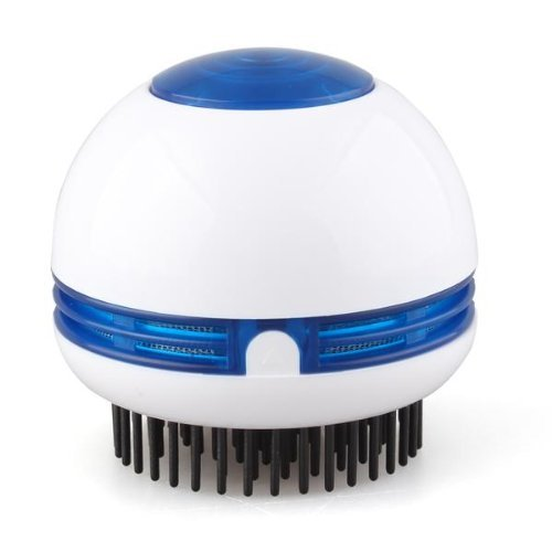 TOOGOO(R) Electric Hair Scalp Head Massager Vibrating Comb Brush Round White