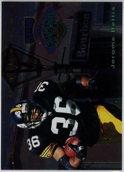 Jerome Bettis Pittsburgh Steelers 1996 Playoff New Orleans Super Bowl Card Show #NNO Football Card