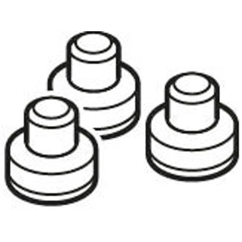 Silit Lot de 3 capuchons d'étanchéité Sicomatic® en plastique