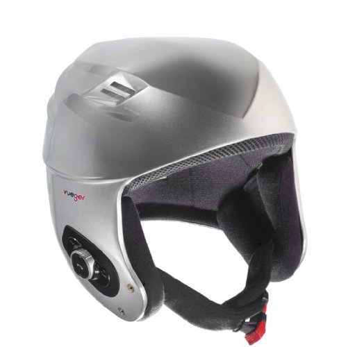 rueger Skihelm Snowboardhelm RW-620 Silber mit Bluetooth und neuester CE-Prüfung EN1078 für ihre Sicherheit