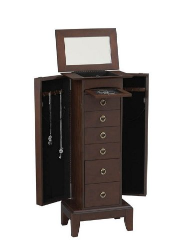 Dark Wood Jewelry Armoire front-1035262
