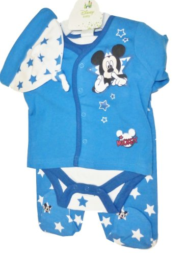 Disney Mickey Mouse 4 Piece Outfit for Baby Boy 0-3 Months (Official Size-3 Months)
